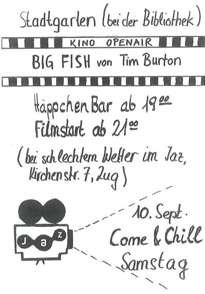 Flyer Open-Air Filmabend feat. Bus on Tour