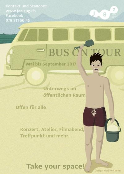 Flyer Crowdfunding - Bus on Tour