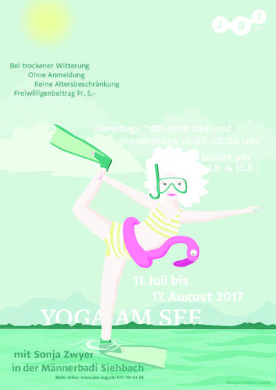 Flyer Yoga am See