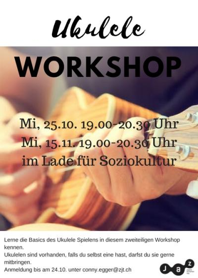 Flyer Ukulele Workshop mit Remo Part I