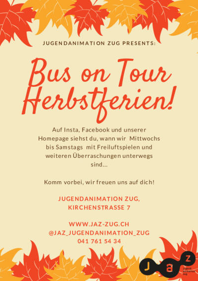 Flyer Bus on Tour Herbstferien