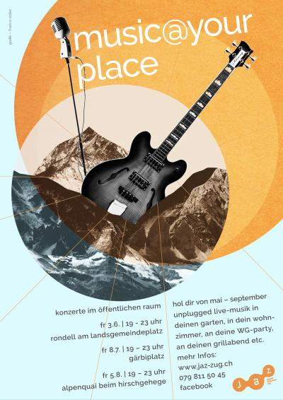 Flyer music@your-place am See